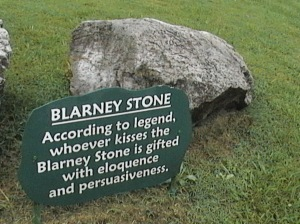 The blarney stone by kiss the stone you empower the gift a gab